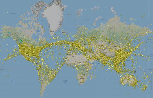 ترافیک هوایی جهان را زنده ببینید
